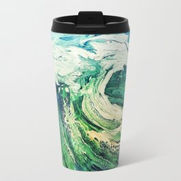 Take a Boat off to the Sea, Blue, Painting Travel Mug