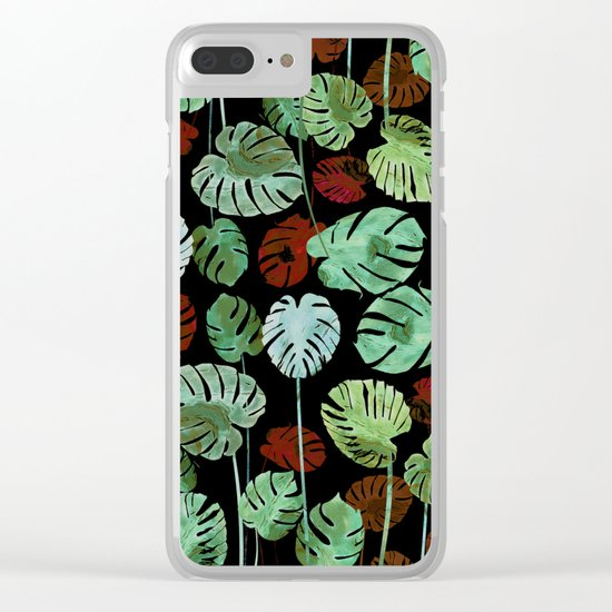tropical contrast Clear iPhone Case