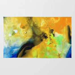 Walking On Sunshine - Abstract Painting By Sharon Cummings Rug