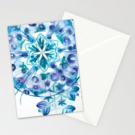 Snow Mandala Stationery Cards