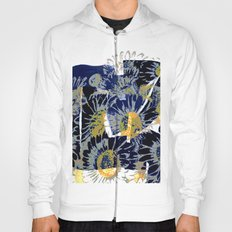 daisies on astract bakground Hoody
