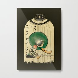 Chinese Idiom: Sitting Duck 插翅难飞 Metal Print