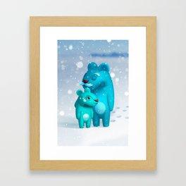 Hug. With Grandpa. Framed Art Print