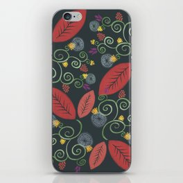 Red leaves floral dance iPhone Skin