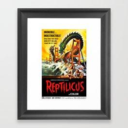 Reptilicus Framed Art Print