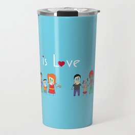 Love is Love Blue - We Are All Equal Travel Mug