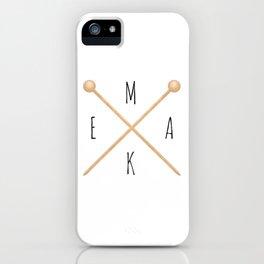 MAKE  |  Knitting Needles iPhone Case