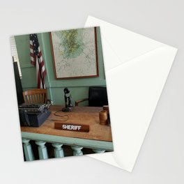 Andy Griffith Sheriff Office in Mayberry, Mt Airy, North Carolina Stationery Cards