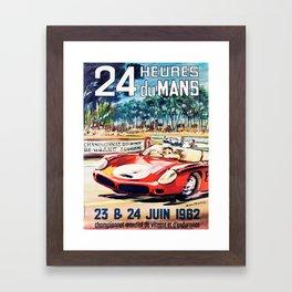 Le Mans poster, 1962, vintage poster, t-shirt, race poster Framed Art Print