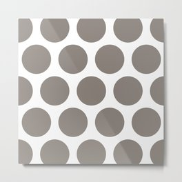 Large Polka Dots: Neutral Brown Metal Print