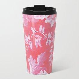 Patterned Silk Rose Travel Mug