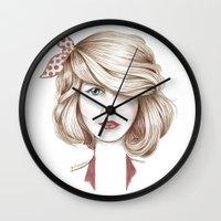 dorothy Wall Clocks featuring Dorothy by yulianzone