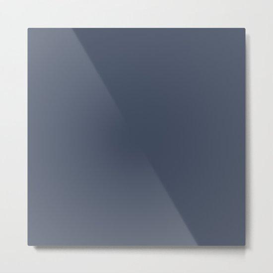 Dark Slate Blue Gray Metal Print