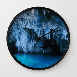 NATURE'S WONDER #3 - BLUE GROTTO #art #society6 Wall Clock
