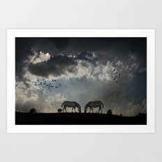 On  the Hill Art Print