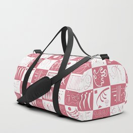 Kandinsky - White and Rose Pattern - Abstract Art Duffle Bag