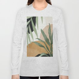 Abstract Art Tropical Leaves 4 Long Sleeve T-shirt