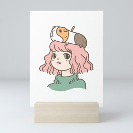 Guinea Pig Lady Mini Art Print