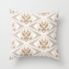 "Art Deco 39. "" Flo  "". Throw Pillow"