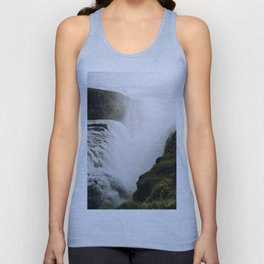 Gullfoss waterfall in Iceland - Landscape Photography Unisex Tank Top