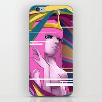 princess bubblegum iPhone & iPod Skins featuring Princess Bubblegum by Kimball Gray