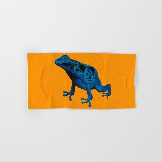 Blue Frog Hand & Bath Towel