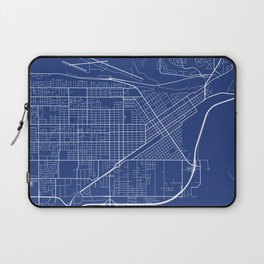 Billings Map, USA - Blue Laptop Sleeve
