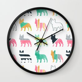 French Bulldogs Wall Clock