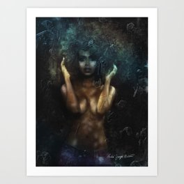 Pretty Black Girl #2 Art Print