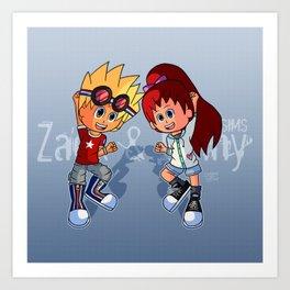 Zack and Ginny (Yo-kai Watch Cosplay) Art Print