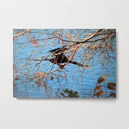 Cormorant Hiding Spot Metal Print