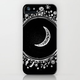 doodled moon iPhone Case