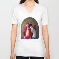 gumball V-neck T-shirts featuring Marshall and Gumball by Kimball Gray