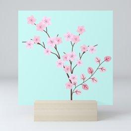 Pink Sakura Cherry Blossom Flowers Mini Art Print