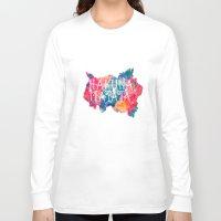 hakuna Long Sleeve T-shirts featuring Hakuna Matata Painted Clouds by Caleb Troy