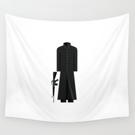 The Matix Outfit Minimal Sticker Wall Tapestry