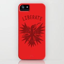 phoenix liberate crest x typography iPhone Case