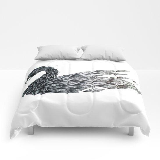 Swan Undone Comforters