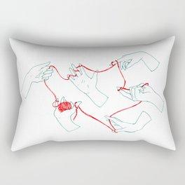 Fil rouge Rectangular Pillow