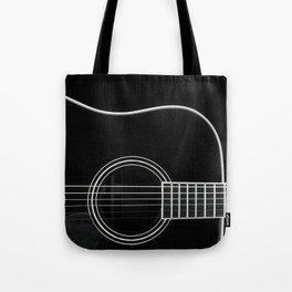 Guitar BW Tote Bag