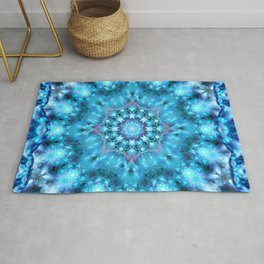 Cosmic Window Mandala Rug