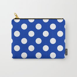 UA blue - blue - White Polka Dots - Pois Pattern Carry-All Pouch
