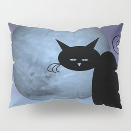 a mouse in the moon - mooncats Pillow Sham