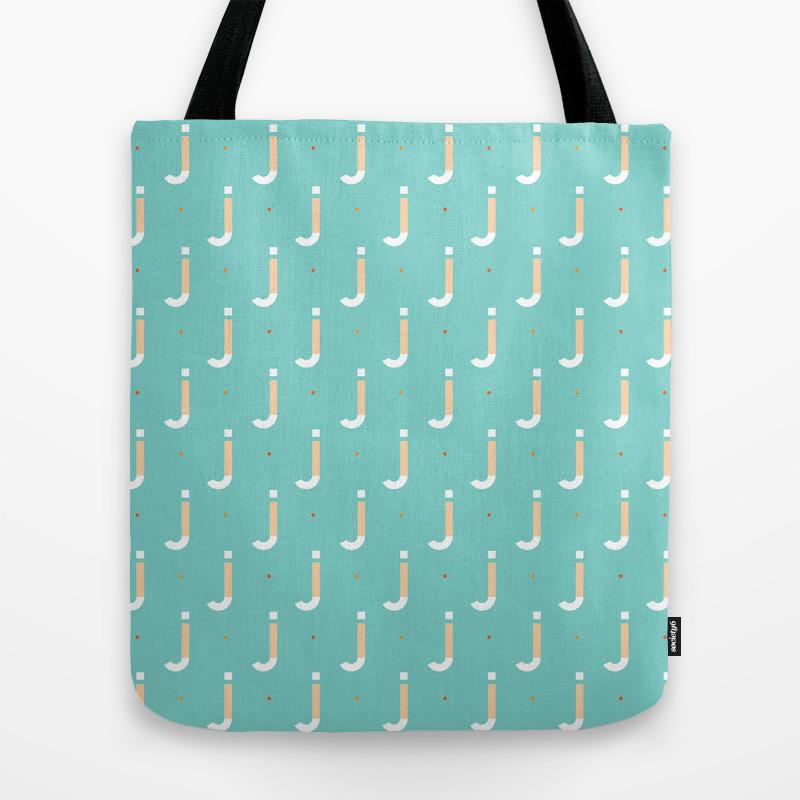 36 Days Of Type - J Tote Bag by Deniztekkul TBG8966037