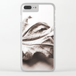 Wilted leaf Clear iPhone Case