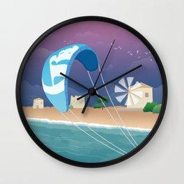 Lefkada, Windmill Beach (GR) Wall Clock