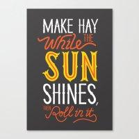sunshine Canvas Prints featuring Sunshine by Wharton