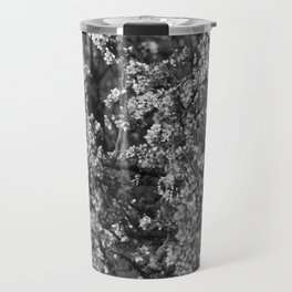Black And White Pear Tree Blooming Travel Mug