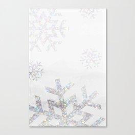 Snowflake Glitter Canvas Print