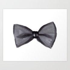 Black Bow Art Print